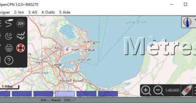 Carte marine du golfe de tunis